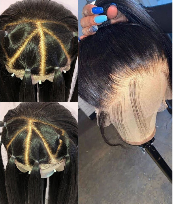 Yaki Texture Pre-plucked Human Virgin Hair Full Lace Wig [GWF07]