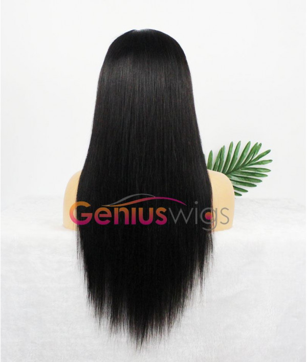 Breathable Fake Scalp 13x6 Deep Parting Silky Straight Human Virgin Hair Wig [GWL01]