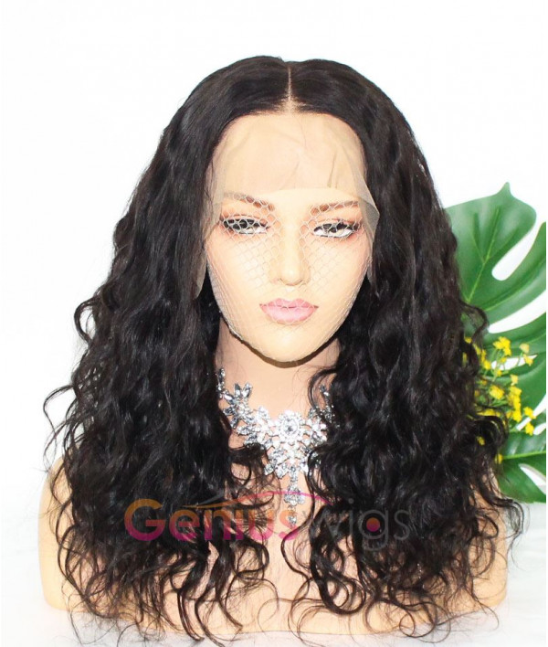 Pre-plucked Loose Body Wave Human Virgin Hair Full Lace Wig [GWF03]