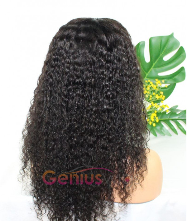 Pre-plucked 250% Density 13x6 Deep Parting Sexy Curl Thick Human Virgin Hair Wig [GWD05]